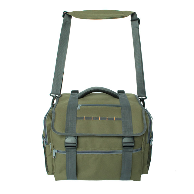 Olive Fishing Gear Bag With Durable Polyester Large Capacity