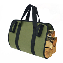Waterproof Canvas Log Carrier Tote Bag Firewood Carrier Bags