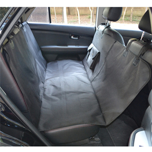Slip-proof Single-layer Dog Car Seat Cover With Zipper And Pockets