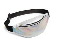 Holographic Fanny Pack Travel Waist Bag with Adjustable Belt for Party Festival Rave Hiking Trip