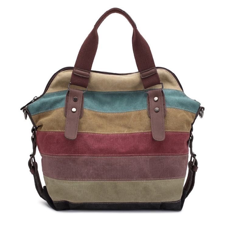 Durable Colourful Canvas Women Purses Handbags for Shopping and outings