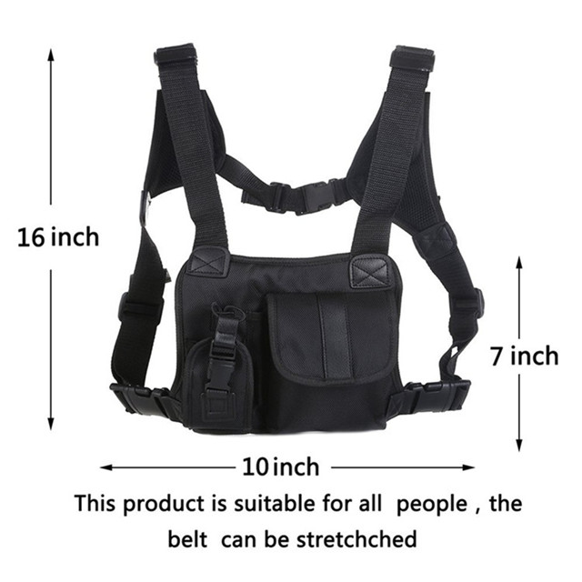 Durable Tactical Chest Rig Vest Bag with Harness
