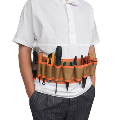 Multi-Pockets Electrician Tool Belt Waist Bag with Adjustable Strap