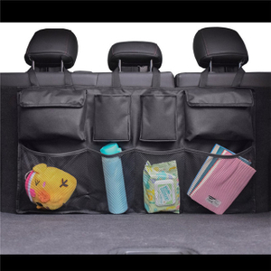 Backseat Car Trunk Storage Organizer Bag with Adjust Straps And Mesh Pouch for SUV, Truck