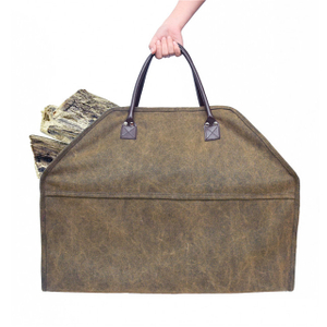 Heavy Duty Canvas Firewood Carrier Bag for Carry Firewood